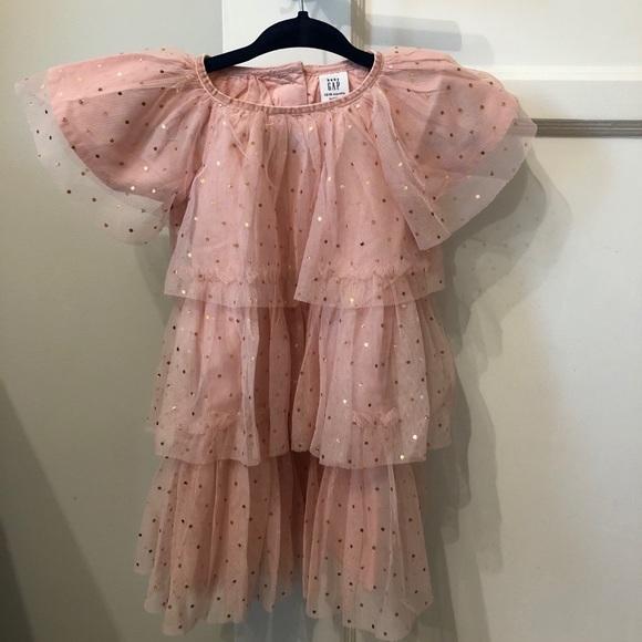 NWT Gap pink and rose gold party dress - 12-18 MO